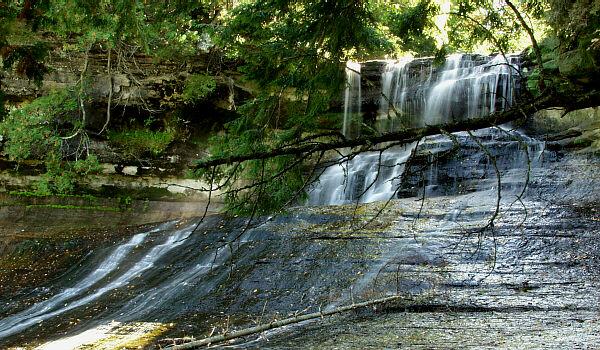 Laughing Whitefish Waterfall Alger County Michigan Waterfalls Michigan Interactive™