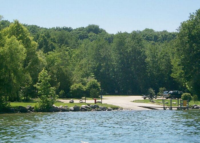 Lake skegemog map antrim county michigan fishing michigan for Lake michigan fishing
