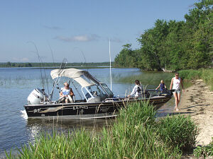 Burt Lake Poverty Bay Fishing Boating Inland Waterway