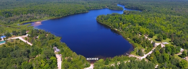 Ocqueoc Lake Map Presque Isle County Michigan Fishing ...