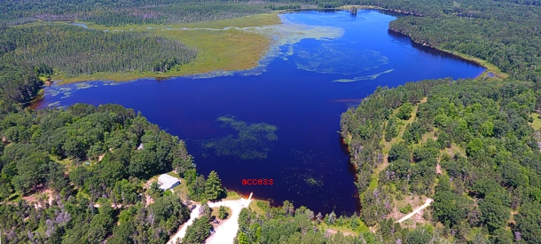 lake emma map presque isle county michigan fishing